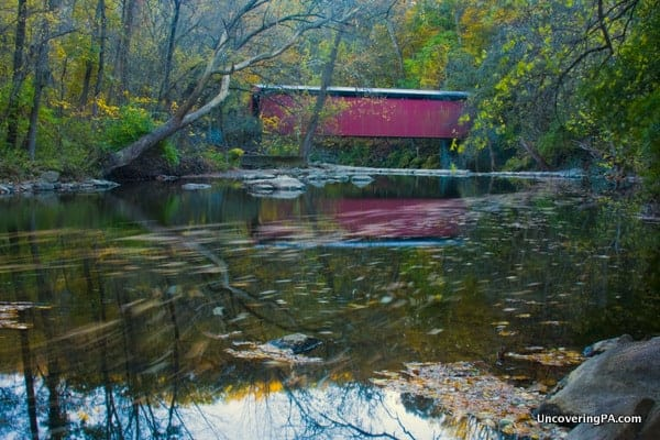 Visiting Thomas Mill Covered Bridge in Philadelphia, Pennsylvania