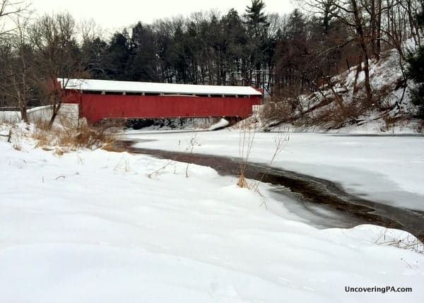 Visiting Geiger's Covered Bridge in Trexler Nature Preserve.