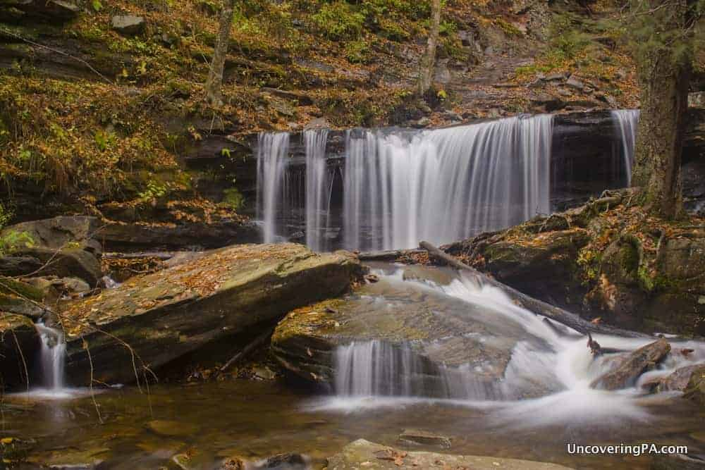 Delaware Falls in Ricketts Glen State Park in PA