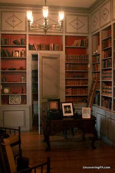 Library at the Harris-Cameron Mansion in Harrisburg, PA