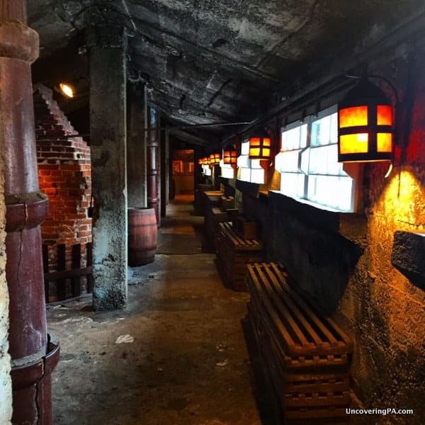 The old coal kilns in the Moravian Pottery and Tile Works in Doylestown, Pennsylvania.