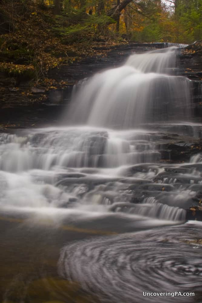 Onondaga Falls in Ricketts Glen State Park in Pennsylvania