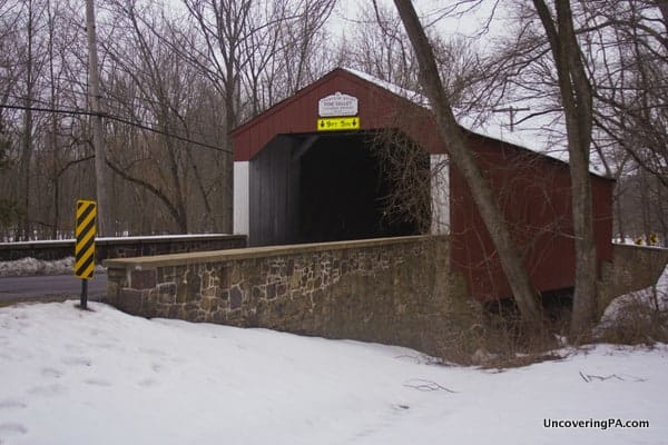 Pine Valley Covered Bridge near Doylestown, PA.