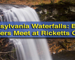 Pennsylvania Waterfalls: The Falls Below Waters Meet at Ricketts Glen State Park