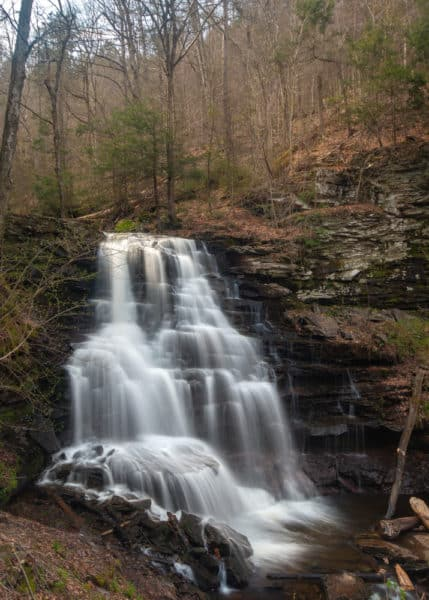 Erie Falls along the Falls Trail in Ricketts Glen State Park