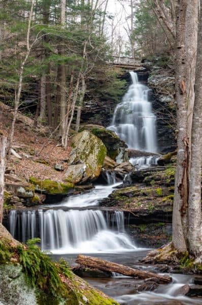 Ozone Falls at Ricketts Glen State Park in Pennsylvania
