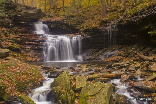 R.B. Ricketts Falls seen while hiking Ricketts Glen State Park.