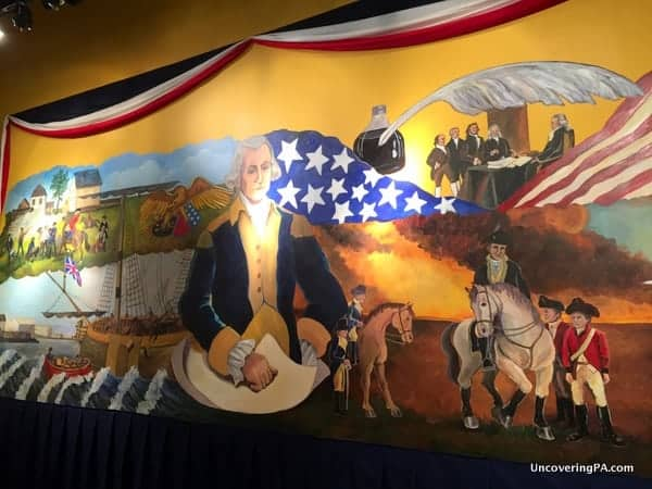 A mural at the Lehigh Valley Heritage Center in Allentown, PA