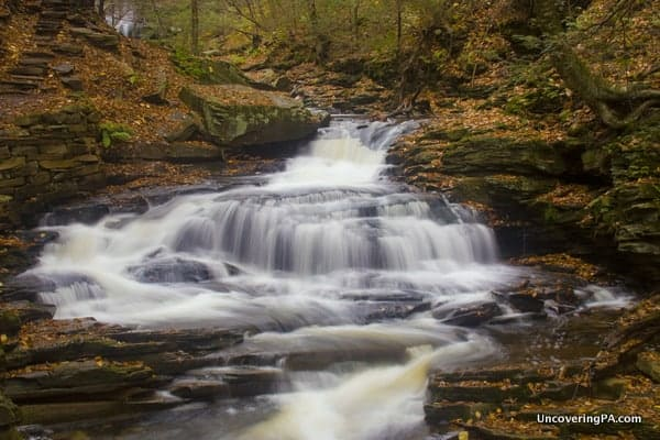Seneca Falls can be easy to miss when hiking the Falls Trail.