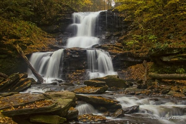 Tuscarora Falls in Ricketts Glen State Park, PA