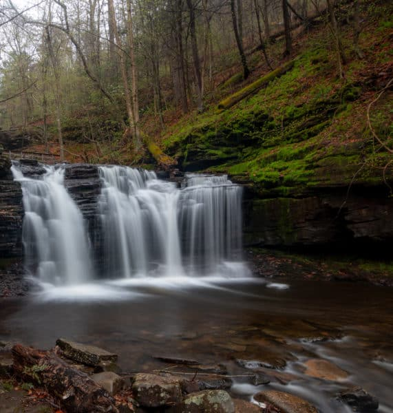 Wyandot Falls at Ricketts Glen State Park near Benton PA