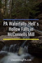 Hell's Hollow Falls in McConnells Mills State Park in Pennsylvania
