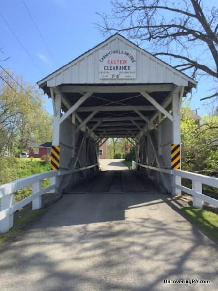 Visiting Carmichaels Covered Bridge in Greene County, Pennsylvania