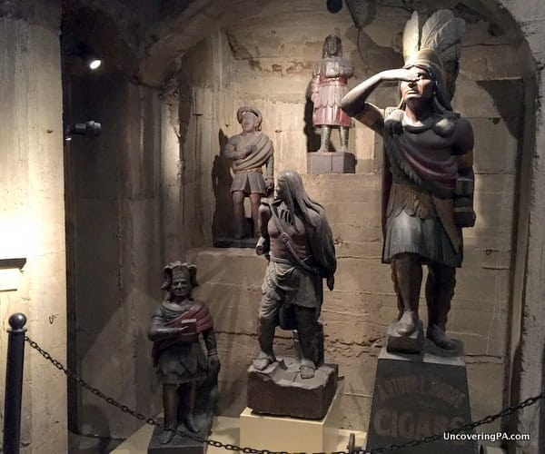 Cigar Store Indians at the Mercer Museum in Doylestown, Pennsylvania