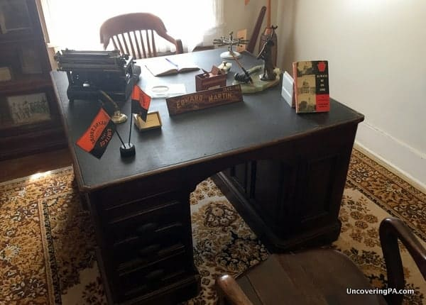 Edward Martin desk in the Greene County Historical Society Museum in Waynesburg, PA