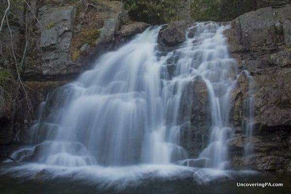 Waterfalls in the Pocono Mountains: Hawk Falls