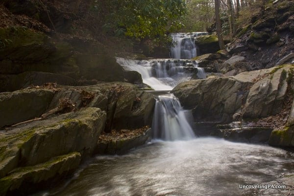 Slateford Creek Waterfalls near Stroudsburg, PA