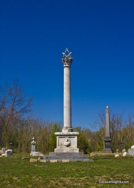 The Masonic Circle in Mount Moriah Cemetery in Philadelphia, PA