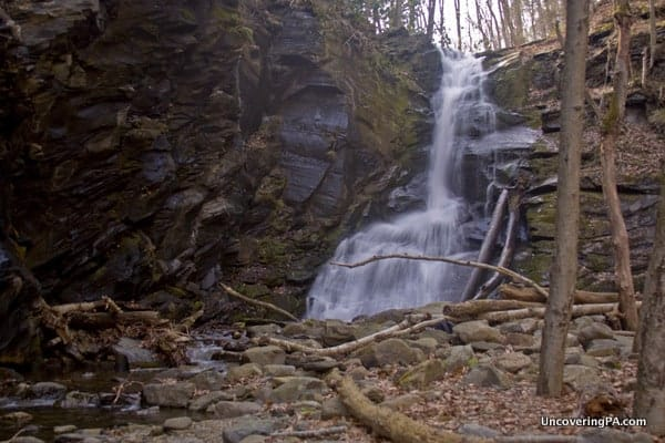 Slateford Creek waterfall in the Lehigh Valley of PA