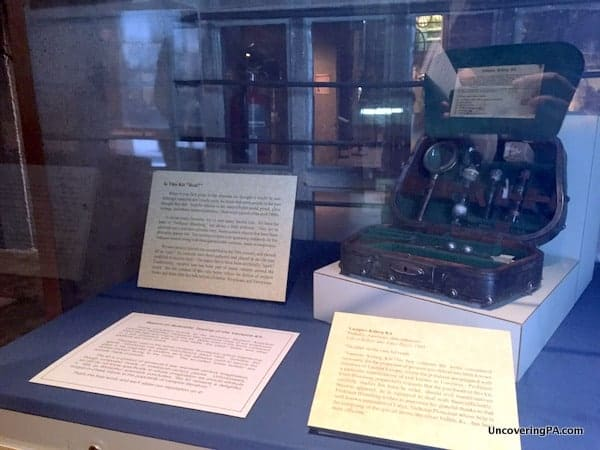 The infamous Vampire Killing Kit at the Mercer Museum in Doylestown, PA