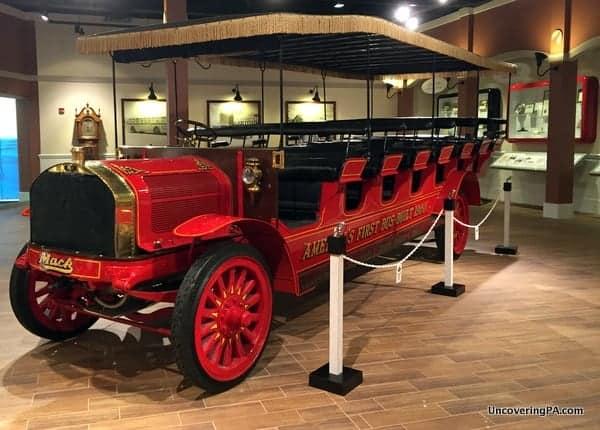 Mack Bus at the Mack Truck Historical Museum in Allentown, Pennsylvania