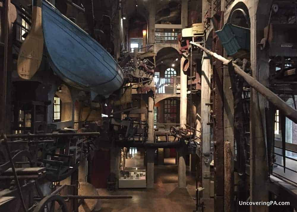 Inside the Mercer Museum in Doylestown, Pennsylvania