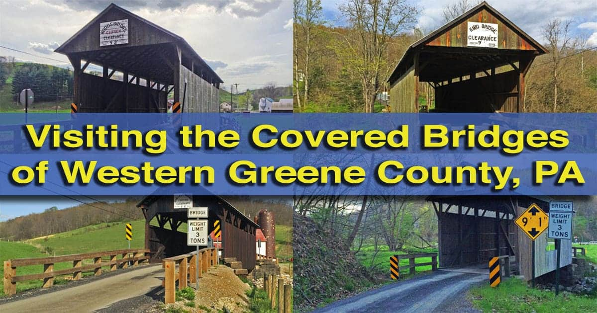 How to get to the Covered Bridges of Greene County PA - western