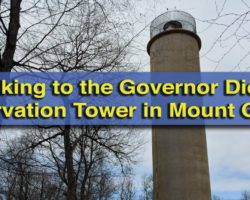 Hiking to the Governor Dick Observation Tower near Mount Gretna