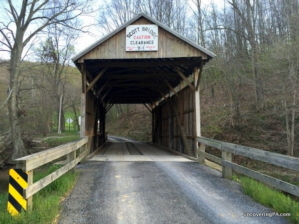 How to get to Scott Covered Bridge in Greene County PA