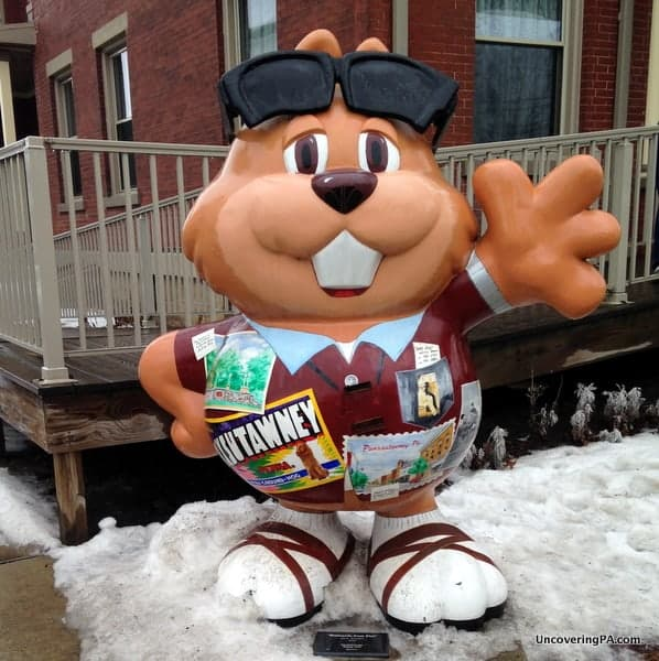 There are 32 Punxsutawney Phil statues in Punxsutawney, Pennsylvania.