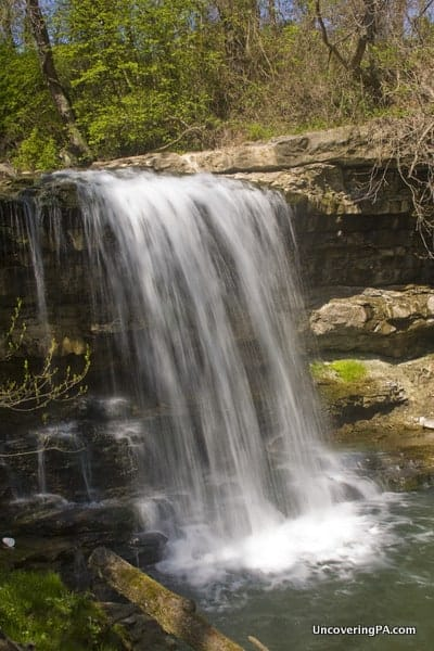 Robinson Falls in the Laurel Highlands of Pennsylvania