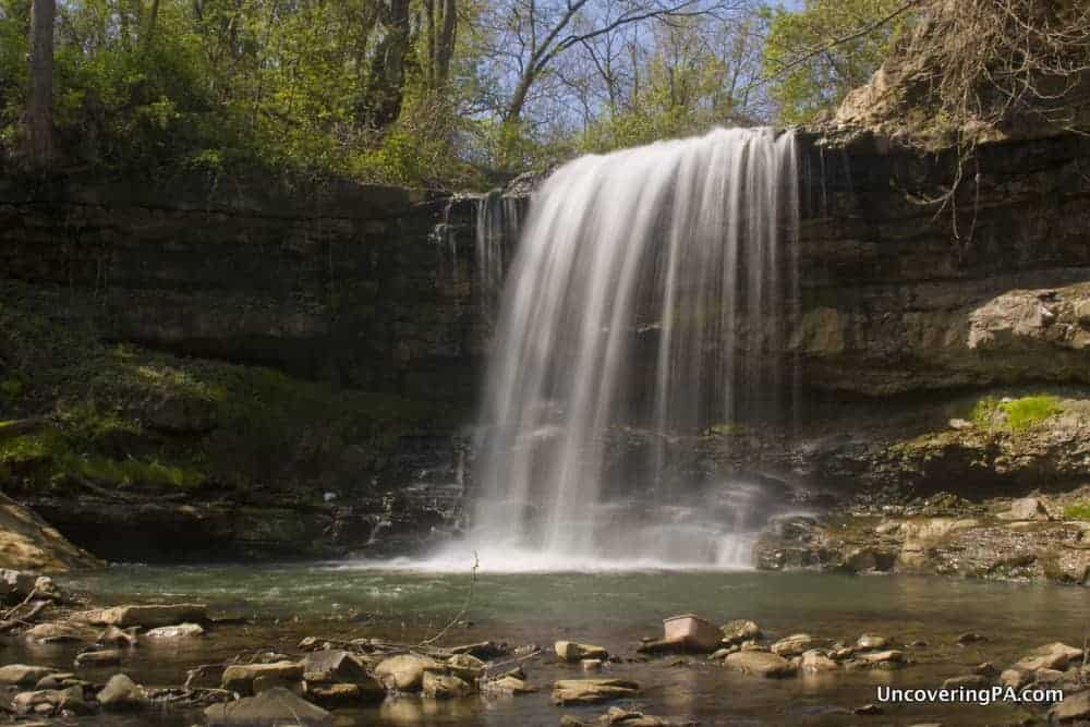 How to get to Robinson Falls in Connelllsville, PA
