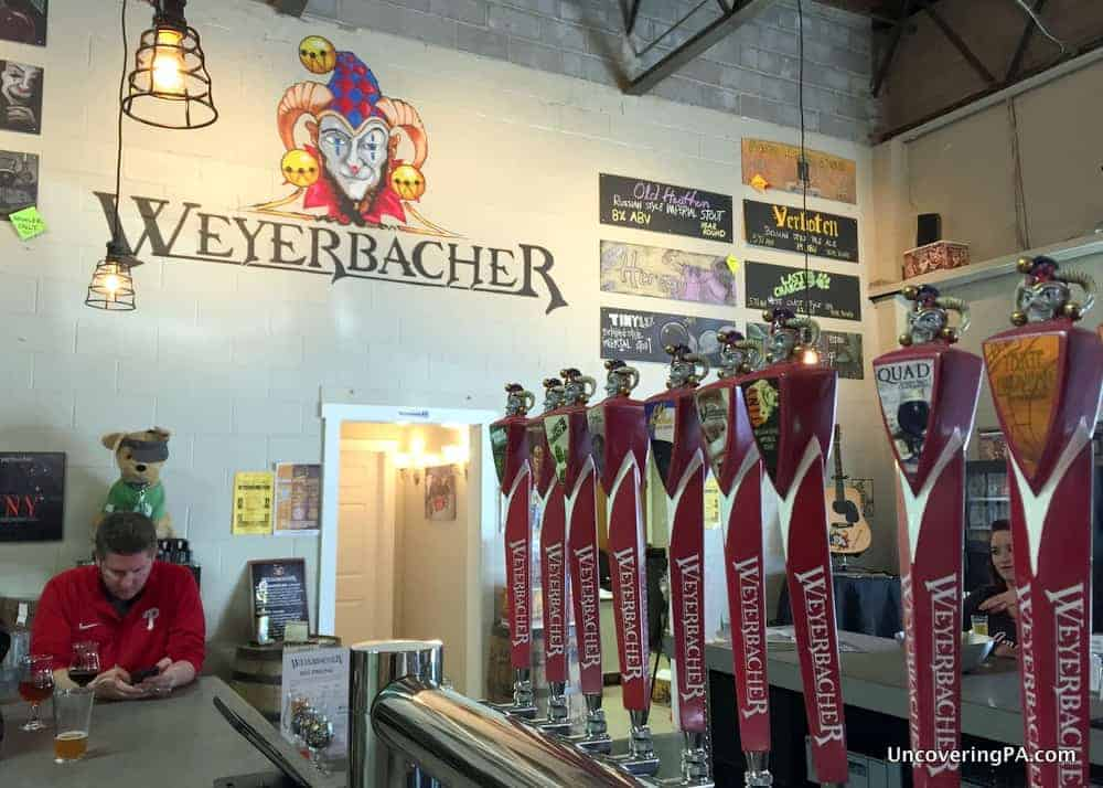 The Tasting Room at Weyerbacher Brewing Company in Easton, PA