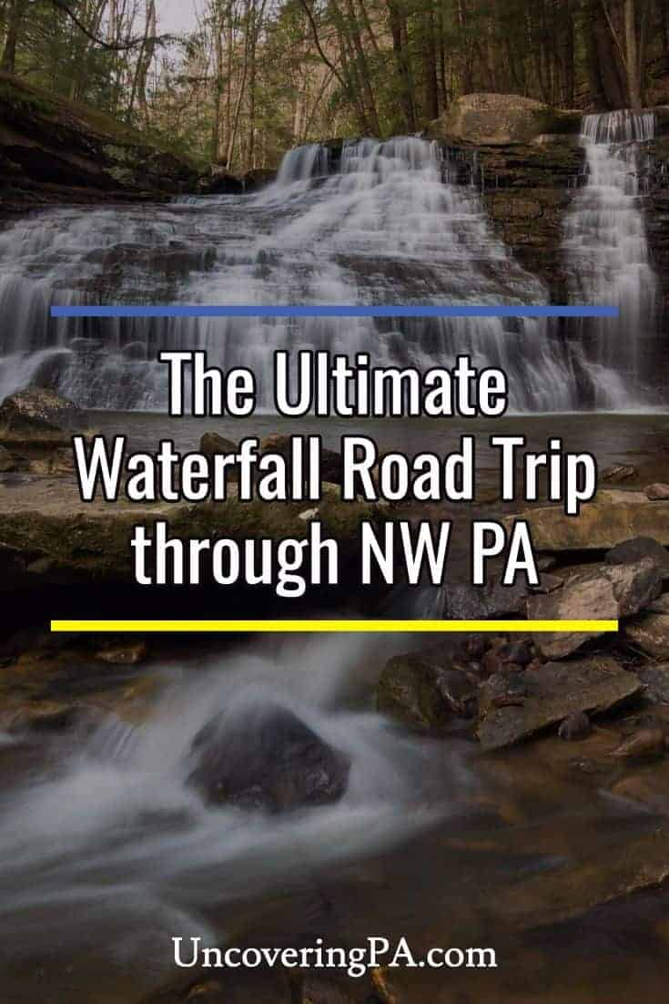 Waterfall road trip through Northwestern Pennsylvania. #roadtrip #pennsylvania #waterfall