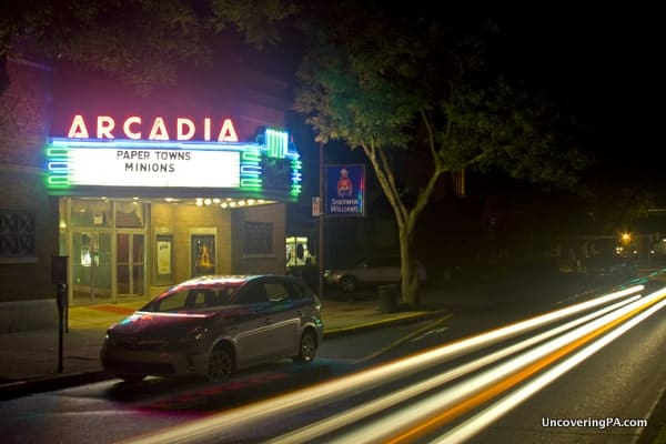 The Arcadia Theater in downtown Wellsboro, Pennsylvania