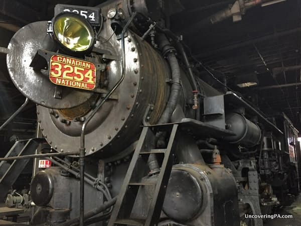 Steam locomotive at Steamtown National Historic Site in Scranton PA