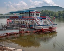 Cruising the Susquehanna River on Williamsport's Hiawatha Riverboat