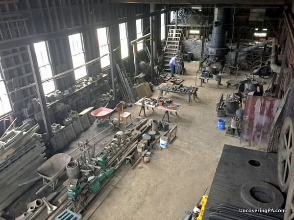 WA Young and Sons Machine Shop and Foundry from above