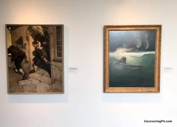 NC Wyeth at the Brandywine River Museum of Art in Chadds Ford Pennsylvania