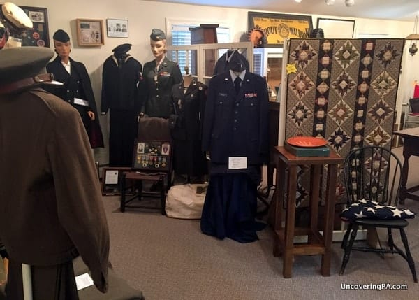 Inside the Muncy Historical Society Museum in Lycoming County, Pennsylvania