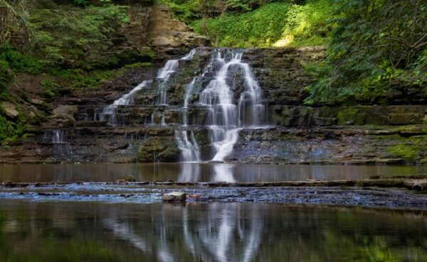 Waterfalls at Salt Spring State Park in Northeastern Pennsylvania