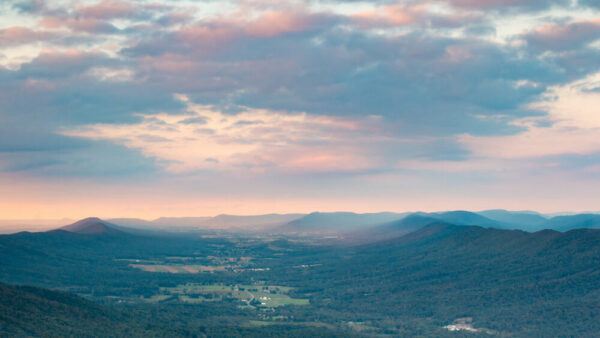 View from Big Mountain Overlook in Buchanan State Forest.