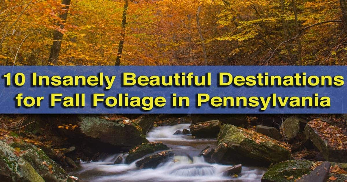 10 Insanely Beautiful Destinations for Fall Foliage in PA