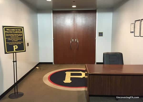 Entrance to Pittsburgh Pirates Clubhouse