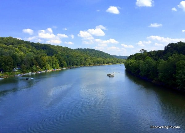 Kiski River from the Kiski Junction Railroad near Kittanning PA
