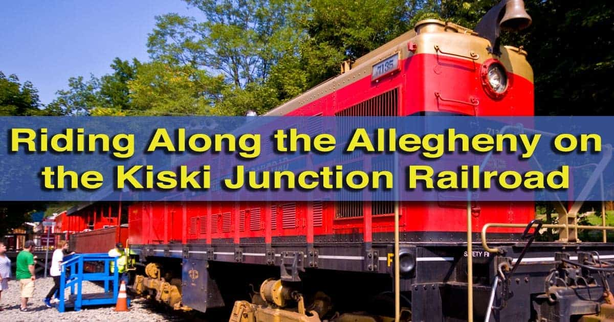 Riding-the-Kiski-Junction-Railroad in Armstrong County PA
