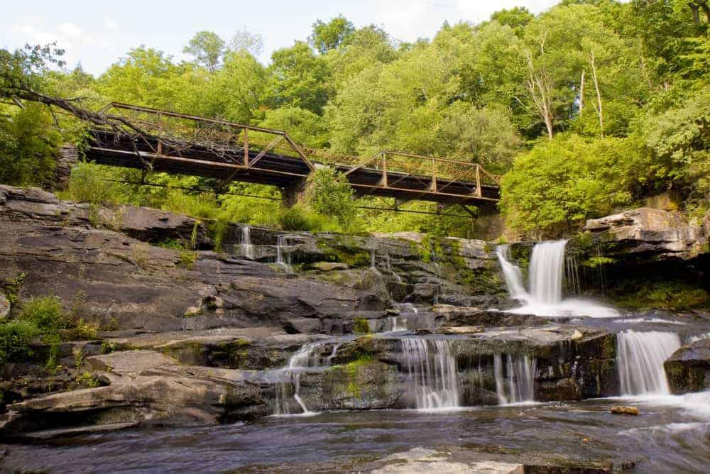 Tanners Falls in Wayne County PA
