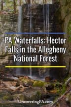 Pennsylvania Waterfalls: Hector Falls in the Allegheny National Forest