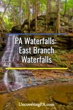 East Branch waterfalls in Loyalsock State Forest