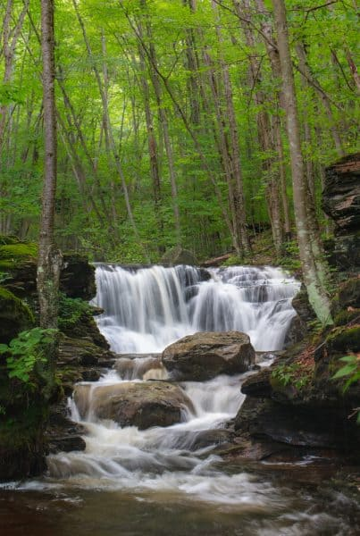 Seeing the waterfalls of Miners Run is one of my favorite things to do in Lycoming County, PA